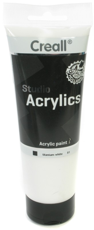 Creall Studio Acrylics Tube: 250 ml, 81 White