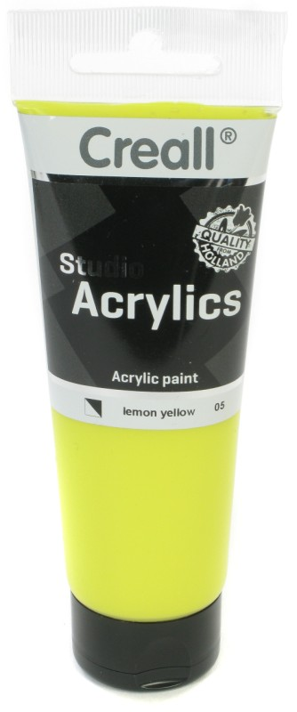 Creall Studio Acrylics Tube: 120 ml, 05 Lemon Yellow