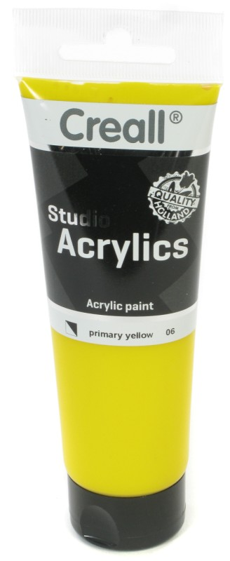 Creall Studio Acrylics Tube: 120 ml, 06 Primary Yellow