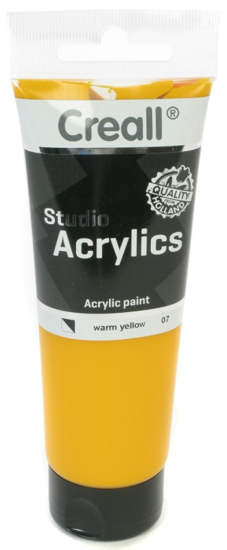 Creall Studio Acrylics Tube: 120 ml, 07 Warm Yellow