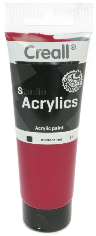 Creall Studio Acrylics Tube: 120 ml, 11 Madder Red