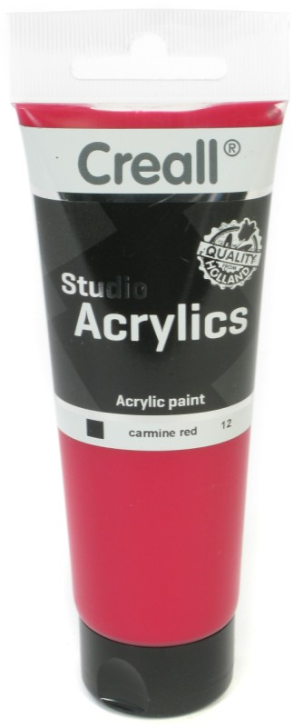Creall Studio Acrylics Tube: 120 ml, 12 Carmine Red