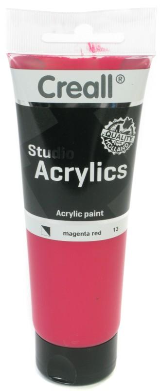 Creall Studio Acrylics Tube: 120 ml, 13 Magenta Red