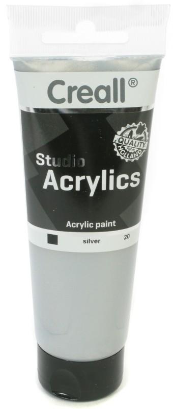 Creall Studio Acrylics Tube: 120 ml, 20 Silver
