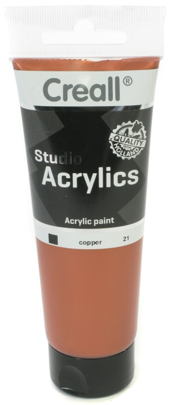 Creall Studio Acrylics Tube: 120 ml, 21 Copper