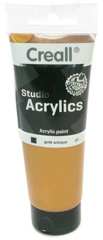 Creall Studio Acrylics Tube: 120 ml, 23 Gold Antique
