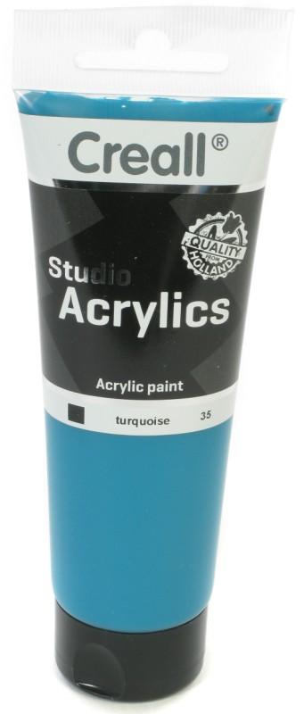 Creall Studio Acrylics Tube: 120 ml, 35 Turquoise