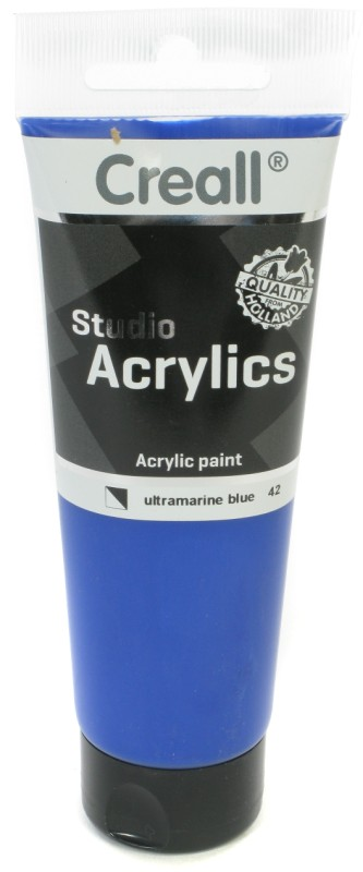 Creall Studio Acrylics Tube: 120 ml, 42 Ultramarine Blue