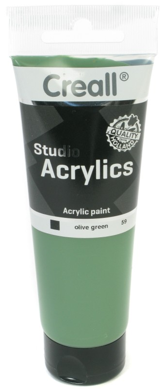 Creall Studio Acrylics Tube: 120 ml, 59 Olive Green