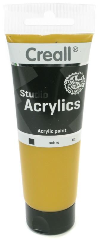 Creall Studio Acrylics Tube: 120 ml, 60 Ochre