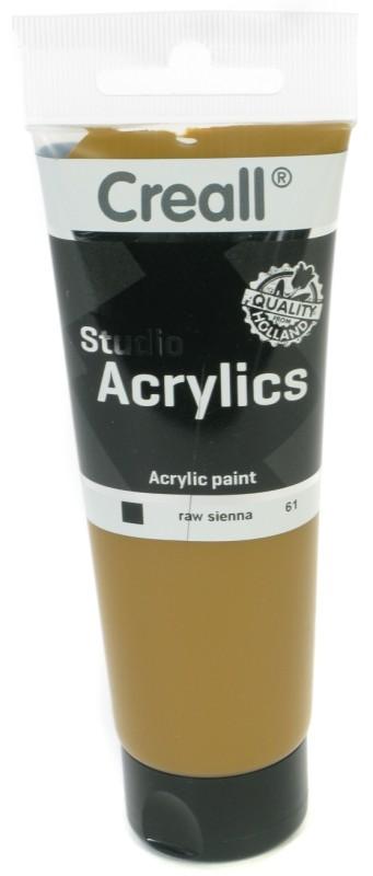 Creall Studio Acrylics Tube: 120 ml, 61 Raw Sienna