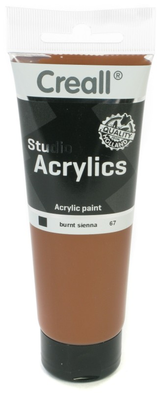 Creall Studio Acrylics Tube: 120 ml, 67 Burnt Sienna