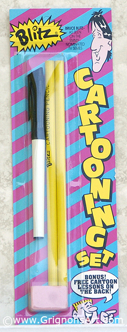 Bruce Blitz Carded Cartoon Pen & Pencil
