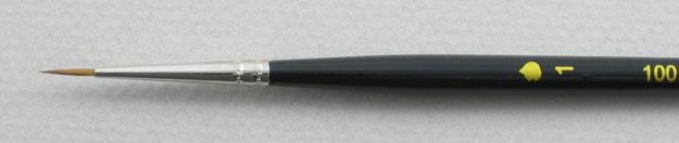 Kolinsky Sable 1001 Round # 1 Brush: Head Shot