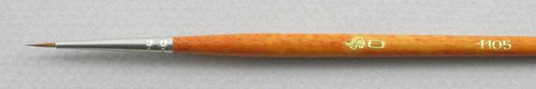 Kolinsky Sable 1105 Round # 0 Brush: Head Shot