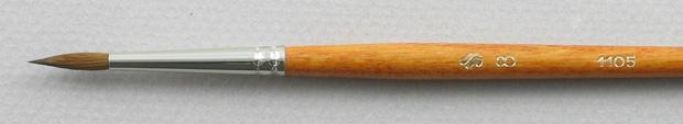 Kolinsky Sable 1105 Round # 8 Brush: Head Shot