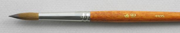 Kolinsky Sable 1105 Round # 18 Brush: Head Shot