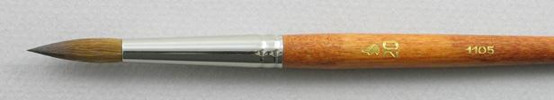 Kolinsky Sable 1105 Round # 20 Brush: Head Shot