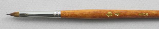 Kolinsky Sable 1105 Filbert # 4 Brush: Head Shot