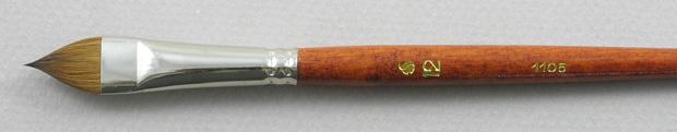 Kolinsky Sable 1105 Filbert # 12 Brush: Head Shot