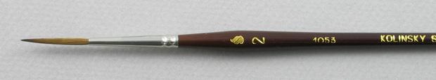 Kolinsky Sable 1053 Script Liner # 2 Brush: Head Shot