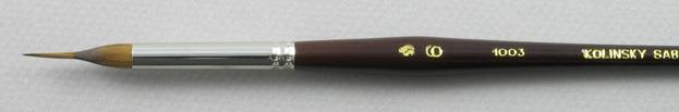 Kolinsky Sable 1003 Reservoir Liner # 6 Brush: Head Shot
