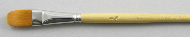 Synthetic Hair 3104 Filbert # 20 Brush: Head Shot