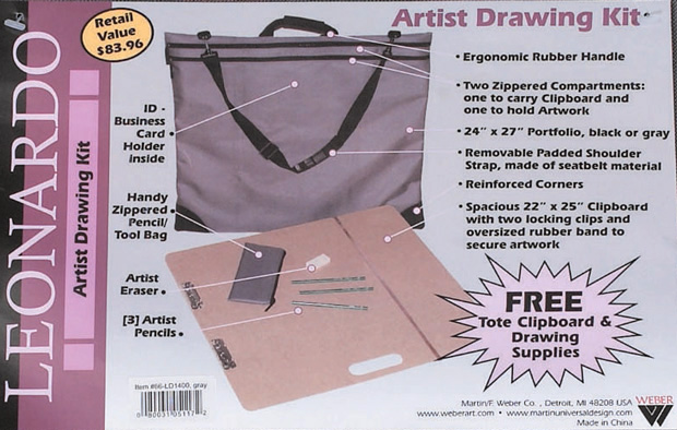 Leonardo Drawing Kit Label