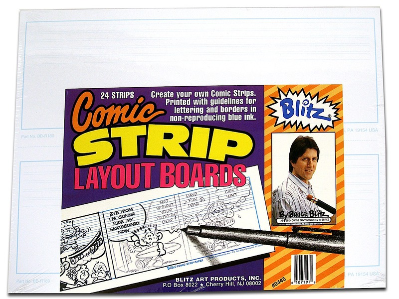 Bruce Blitz Comic Strip Layout Boards