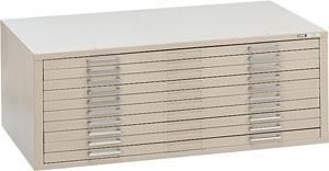 "Mayline C-File: 10 Drawers, Gray, 46 3/4""W x 35 3/8""D x 15 3/8""H"