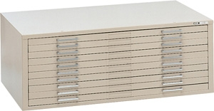 "Mayline C-File: 10 Drawers, White, 46 3/4""W x 35 3/8""D x 15 3/8""H"
