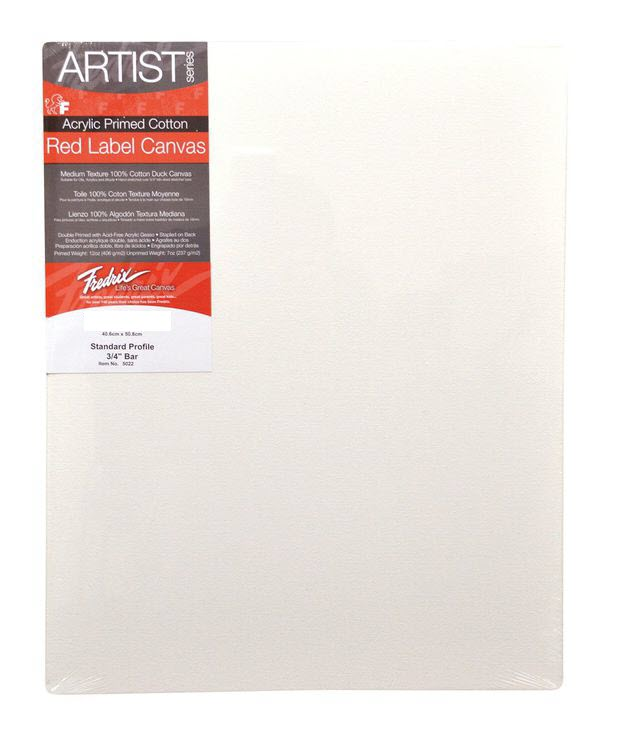 """Fredrix 6"""" x 12"""" Red Label Standard Stretched Canvas: Individual"""