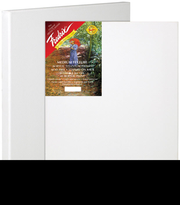"Fredrix 6"" x 8"" Red Label Standard Stretched Canvas: Individual"