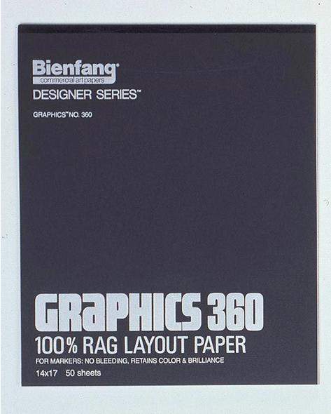 Alvin Bienfang® Graphics 100% Rag Felt Marker Layout Paper 11 x 14inches