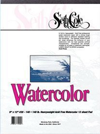 Alvin Seth Cole Watercolor Pad 9 x 12inches 12 Sheet 90Lb.