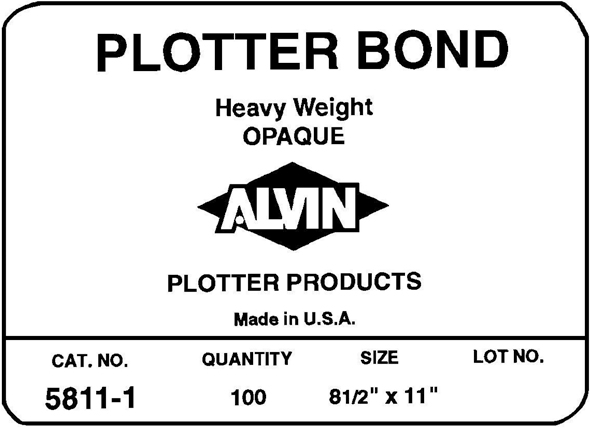 Alvin Heavyweight Opaque Plotter Bond 22 x 34inches 50 Sheet
