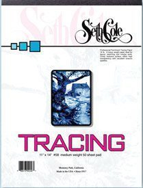 Alvin Seth Cole Tracing Paper 14 x 17inches 50 Sheet Pad