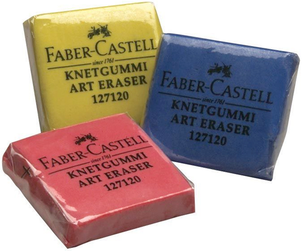 Alvin Faber-Castell Kneadable Erasers Colored 60/Display