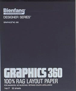 Alvin Bienfang® Graphics 100% Rag Felt Marker Layout Paper 9 x 12inches