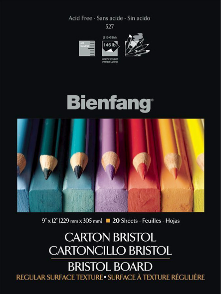 Alvin Bienfang® White Drawing Bristol Board 9 x 12inches Vellum Finish 20 Sheet