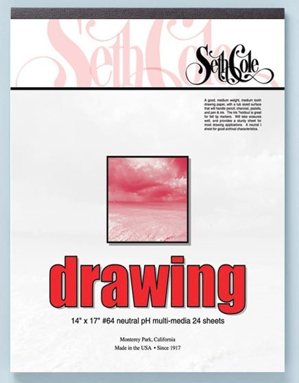 Alvin Seth Cole Drawing Pad 14 x 17inches 24 Sheets 80Lb.