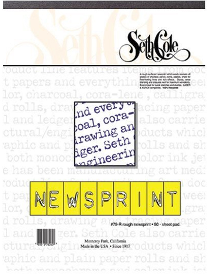 Alvin Seth Cole Newsprint Pad 18 x 24inches 50Sheets 30Lb.