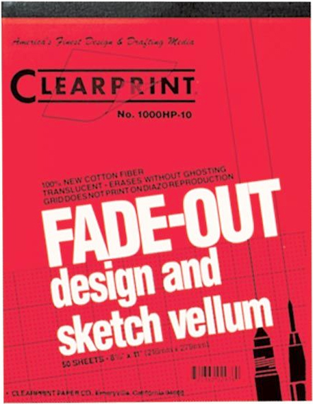 Alvin Clearprint 1000HP® Vellum 17 x 22inches 50 Sheet Pad