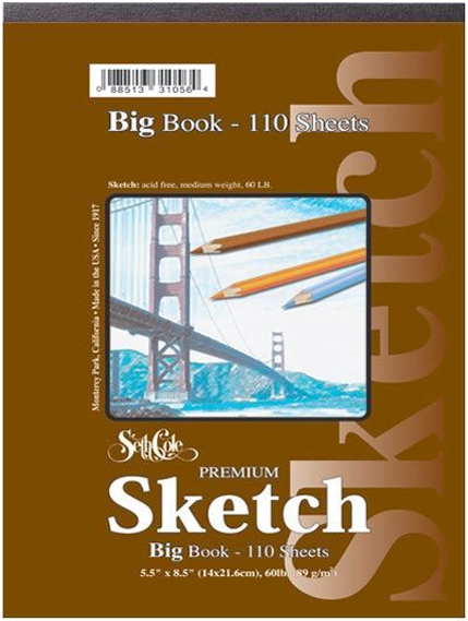 Alvin Seth Cole Premium Big Sketch Book 9 x 12inches 110Sheet Pad Tt