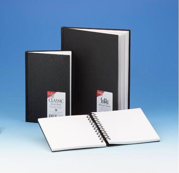 Alvin Cachet® Classic Black Wirebound Sketch Book 7 x 10inches