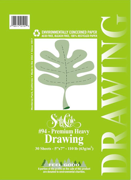 Alvin Seth Cole Premium Heavy Drawing Pad 11 x 14inches 30 Sheets Spiral
