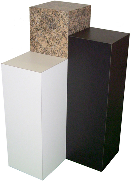 Xylem White Laminate Pedestal 12 Quot X 12 Quot Base 30 Quot Height
