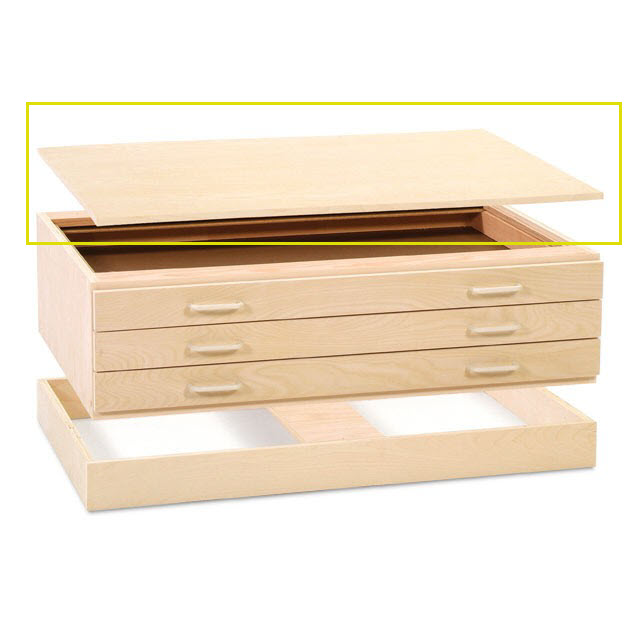 SMI Natural Oak Steel Drawer Guide Flat File Cap