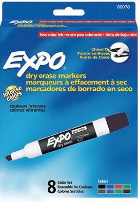 Expo® Dry-Erase Broad-Tip Markers: 8 Color Set