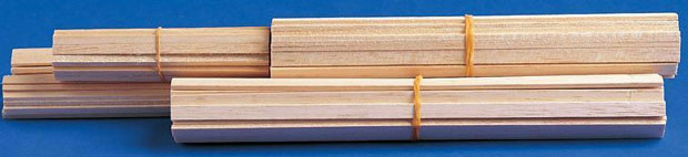 Alvin® Bass Wood: Strips 1/16 X 3/8 Pack Of 50